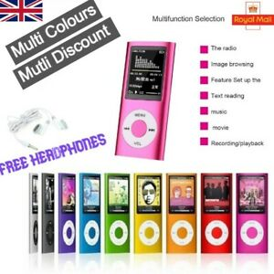 "Portable Mini MP3 MP4 Player Supports 32GB 1.8"" LCD Music Video Media FM Radio"