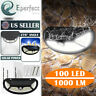 Waterproof 100 LED Solar Lamp PIR Motion Sensor Outdoor Garden Yard Wall Light