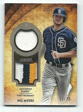 Wil Myers San Diego Padres 2017 Topps Tier One Dual Patch Card 25/25