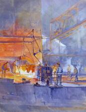 Franz Elsner 1898 Wien / Arbeit im Walzwerk / Gemälde / 1927 / Sammlung Schmacke
