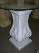 Runder Glas Beistelltisch Antike Säule Blumensäule Dekosäule Steinmöbel Ständer