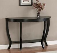 Sofa Table Coffee Half Moon Entryway Modern Wooden Living Room Hallway Buffet