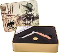 New Bear Archery Limited Edition Fred Bear Holiday Tin Knife Set