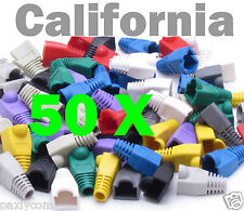 Lot 50 x set RJ45 Connector Modular End Cap Boot Head Cat5 Plug Cat6 Cable 5E