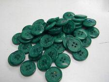 6 boutons neuf mercerie plastique  COULEUR VERT DEVERNOIS 1.8 CM lot 699