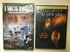 New listing Lot of 2 Dvds - The Sixth Sense (Bruce Willis) / I Was There - New