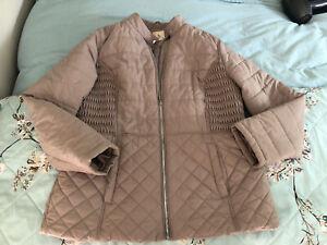 💗 Women's TU Beige Padded Jacket Coat Size 16 💗