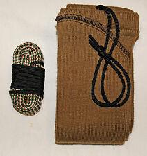 7.62X54R MOSIN NAGANT Bore brush swab mop rope snake cleaner gun sock case FDE