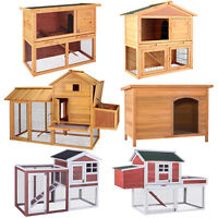 "36""40""83""Wooden Chicken Coop Rabbit House Poultry Habitat Pet Supplies Backyard"