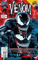 VENOM #32 Mike Mayhew Studio Variant Trade Dress Signed With COA
