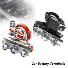12V 3 Way Positive Negative Battery Terminals Connectors Clamps Car Van Caravan