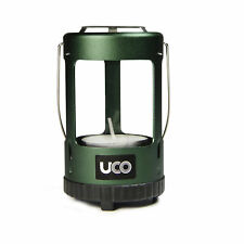 UCO Mini Candle Lantern Durable Lightweight Tealight Green With Glass Chimney