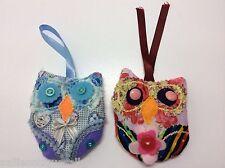 2x Handmade Lavender Bag Owl Kitsch Shabby Chic Wardrobe Hanger Gift Female