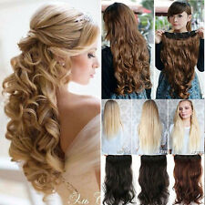 Curly hair extensions ebay uk real long clip in hair extensions one piece half full head straight curly kcb pmusecretfo Gallery