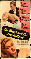 BAD AND THE BEAUTIFUL MOVIE POSTER Original 41x81 Three Sheet KIRK DOUGLAS 1953