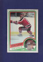 Don Lever 1984-85 O-PEE-CHEE Hockey #112 (NM)