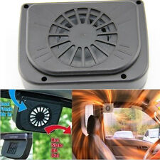 AUTO COOLER Solar Powered Car Air Vent Cooling Cooler Fan for Car Windows Black