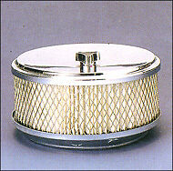 """Chrome Engine Air Cleaner 2.5"""" Filter w/ 5-1/8"""" Neck"""