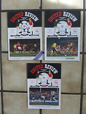 3 x Manchester United Home Football Programmes - Div 1 - 1982 - Lot 27