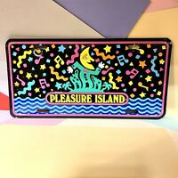 Disney Pleasure Island Novelty Licence Plate  Original Retro 80s -90s Rare VGC