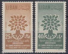 Libanon Lebanon 1960 ** Mi.670/71 Flüchtlingsjahr Refugee Year