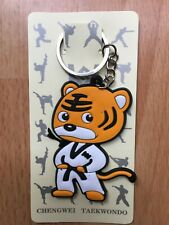 Martial Arts Orange Tiger Key rings Key Chain Taekwondo Keychain Size 7 x 4cm
