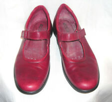 Womens Ecco Mary Jane Flat Comfort Support Shoes Size 10-10.5 M 41 Ox Blood Red