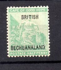 British Bechuanaland 1886 1/- green mint MH SG8 Cat Val £375 WS19541