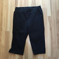 Motherhood Maternity M Medium Solid Black Capri Pants