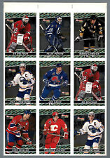 1993-94 OPC Premier BlackGold  Press Proof Panel of 9, Lemieux, Belfour, Sakic..