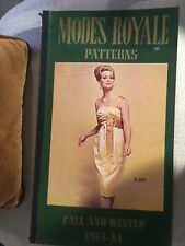 vintage modes Royale Pattern Book Fall/Winter 1963-64 Sewing Fashion Catalog
