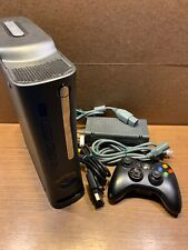 Black Xbox 360 120 GB Hard Drive w/ cords and one controller - Used and works