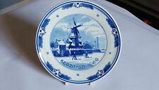 """Royal Delft Handpainted Kerstmis 7 1/8"""" Plate Christmas 1969 SKO 1742 / 8 CN"""