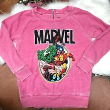 f62d0537b88 Marvel Avengers Pink Womens LS top size Medium Lightweight Sweatshirt  Distressed