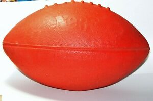Vintage 1970s Parker Brothers NERF Red Football Non Expanding Recreational Foam