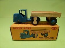 DINKY TOYS 415 MECHANICAL HORSE AND OPEN WAGON- EXCELLENT CONDITION IN BOX