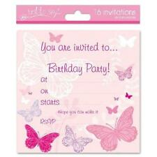 16 X Girls Childrens Birthday Invite Party Invitations Cupcake Fairy Butterfly 4390 Doll