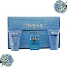 Versace Man Eau Fraiche 3PC Gift Set EDT Shampoo Shower Gel 50ml Each New Boxed