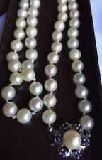 Halsketten und Anhänger mit echten Akoyaperlen-Saphir-Perlen aus Zucht