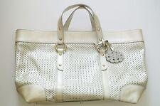 White Patent Leather EMPORIO ARMANI Tote Handbag, 12 x 14 x 4 in, 4 in drop