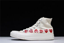 Converse x Comme des Garcons PLAY CDG Chuck 70 White High Top Shoes US7.5