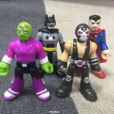 4x Imaginext DC Super Friends Batman Bane Brainiac Superman figures Fisher-Price