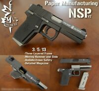 1/1 Scale NSP Pistol Gun DIY 3D Paper Model Puzzle Kit Weapon Cosplay Military
