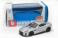 Jaguar F-Type R in Silver, Bburago 18-30383, scale 1:43, boy gift toy