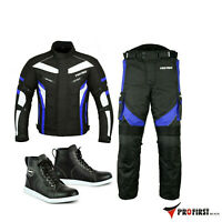 CE MOTORBIKE / MOTORCYCLE TEXTILE JACKET TROUSERS SUIT BIKER LEATHER SHOES BOOT
