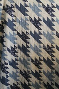 """Essential Home Quilt Blue and White Full/ Queen Size 86"""" x 86"""""""
