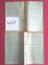 N°4247 /  Trains CHENARD & WALCKER F.A.R catalogue tarif au 25 juillet 1931