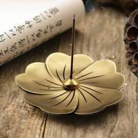 Bronze Stick Incense Burners Sakura Flower Carving Cone Holder Coil Censer