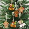 Fj- Babbo Natale Pupazzo di Neve Alce da Parete Ornamento Piatto Albero Finestra