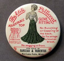 c.1900 Jackson Skirt Elite Petticoat Red Lake Falls Minnesota pocket mirror *